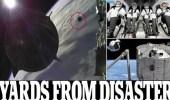 شاهد.. صاروخ يحمل على متنه 4 من رواد الفضاء ينجو من كارثة فضائية