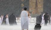 فيديو.. هطول أمطار غزيرة على المسجد الحرام