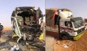 بالصور .. حادث تصادم مروع على طريق سلطانة شروة