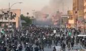 شاهد.. الصدام بينالشرطة العراقية والمتظاهرين في ساحة التحرير ببغداد