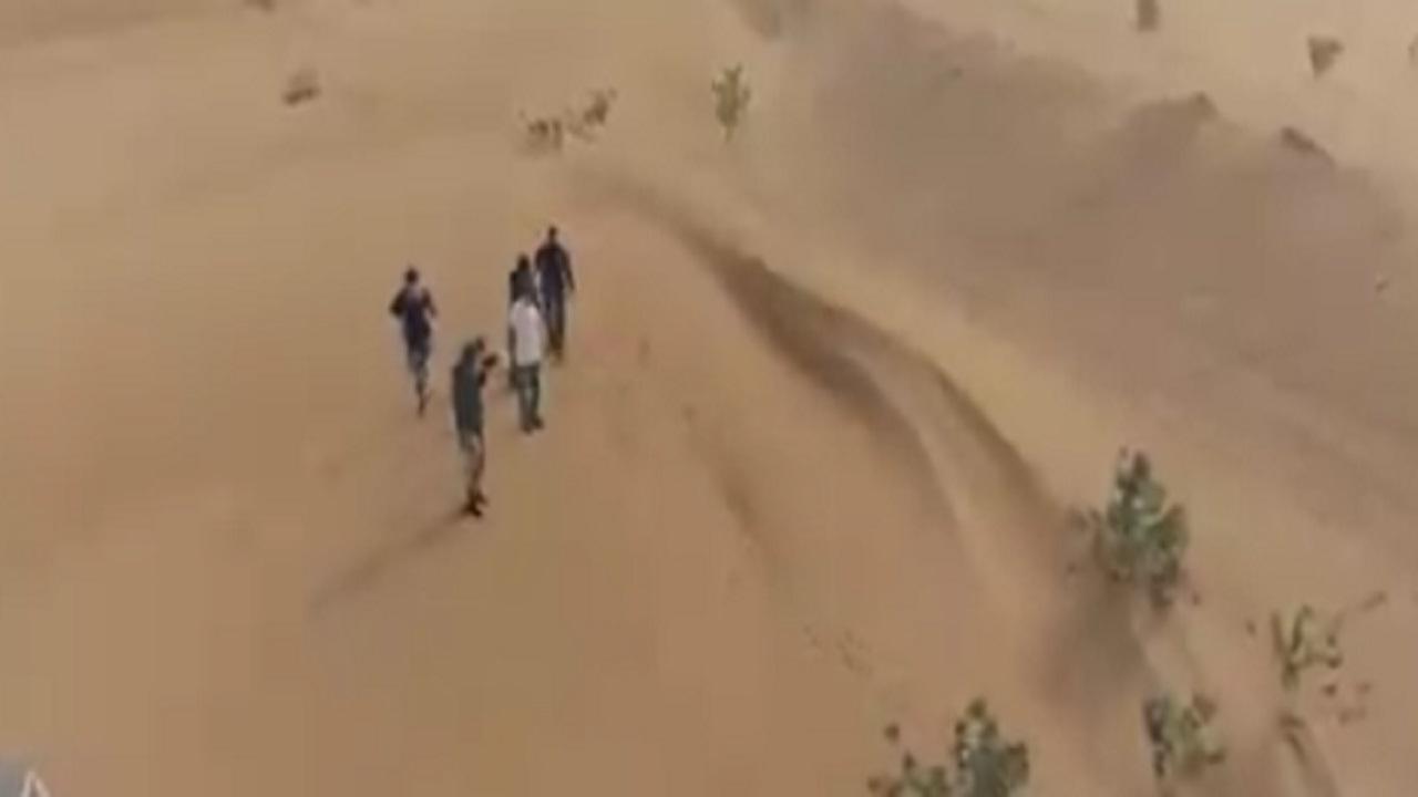 شاهد .. الشقيري يشارك في تجربة إنقاذ شخص مفقود في الصحراء