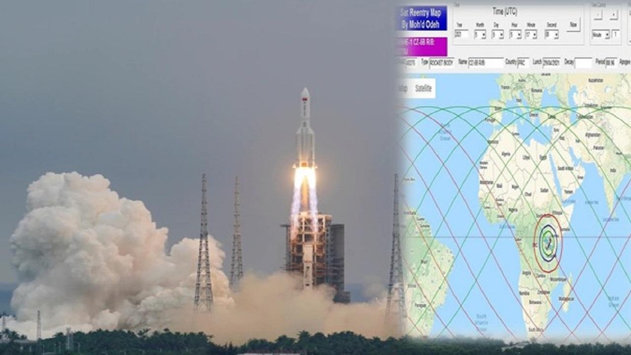 """""""الفلك الدولي"""" يعلن موعد سقوط الصاروخ الصيني التائه ومكان سقوطه"""