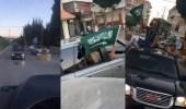 """بالفيديو.. مسيرة بالسيارات تجوب شوارع لبنان بالأعلام السعودية رفضاً لتصريحات """"شربل"""""""
