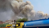 بالفيديو.. انفجار بمصنع لتصنيع الطائرات المسيرات يطلق عليه اسم غزة في إيران