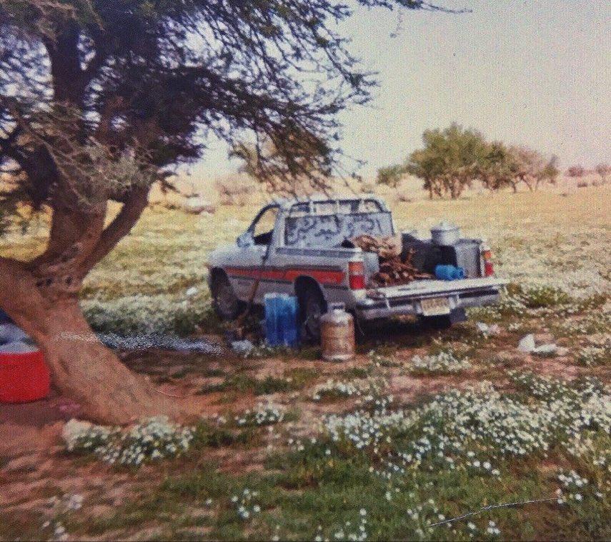 صورة ربيعية جميلة لـ كشتة في أحد شعبان الزلفي