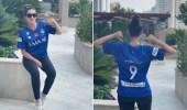 بالصور.. الإعلامية رشا الخطيب ترتدي قميص الهلال احتفاءًا به