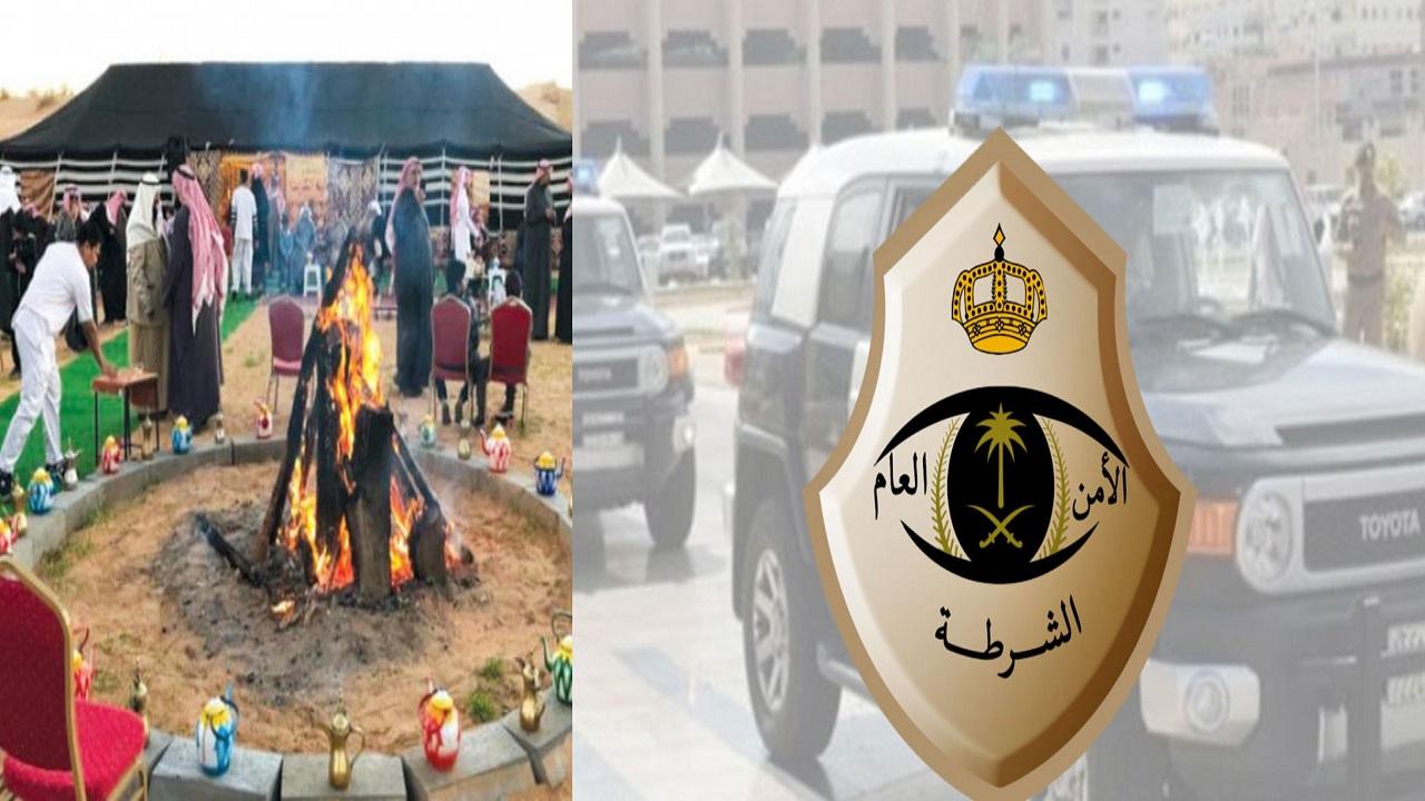ضبط 60 مواطنًا داخل مخيم مخالفين للإجراءات الاحترازية برنية