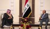 بالفيديو .. الرئيس العراقي يستقبل الأمير خالد بن سلمان