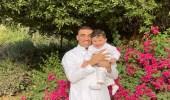 صورة.. حمدالله يحتفل بالعيد برفقة طفله