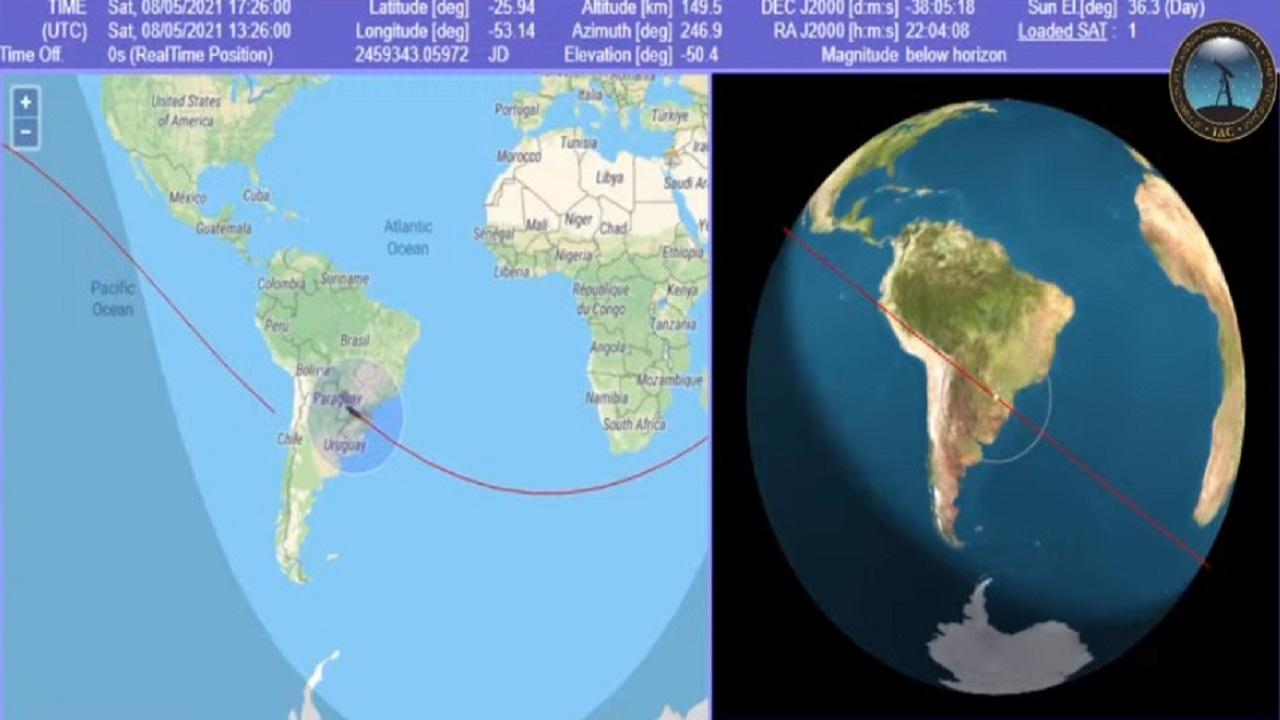 بث مباشر للصاروخ الصيني التائه في الفضاء وموعد سقوطه