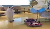 """بالفيديو.. فرحة الطفل """"مقرن"""" بعد شفائه وانتهاء علاجه الكيمائي"""