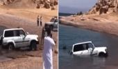 شاهد.. لحظة انتشال سيارة مواطن سقطت في بحر حقل