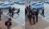 شاهد.. لحظة اعتداء قوات الاحتلال على شاب فلسطيني دون داع