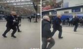 شاهد.. فيديو طريف لرئيس وزراء بريطانيا وهو يركض مسرعا وراء قطار في لندن