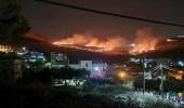 حريق هائل إثر هجوم إسرائيلي على مناطق في سوريا