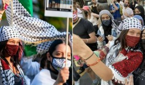 بالصور.. بيلا حديد تخرج بمظاهرات للتضامن مع فلسطين