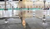 بالصور.. لحظة هطول الأمطار على المدينة المنورة