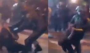 شاهد..شابة فلسطينية تتعرض لاعتداء وحشي على يد جنود الاحتلال