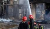 حريق كبير بمستودع للمواد الكيميائية بإيران وسقوط جرحى