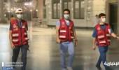 بالفيديو.. جهود المتطوعون بهيئة الهلال الأحمر لخدمة زوار المسجد النبوي