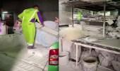بالفيديو .. ضبط معملين مخالفين لصناعة الجبس داخل حي سكني بالعاصمة المقدسة