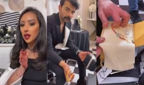بالفيديو.. فرح الهادي تقدم لزوجها هدايا ثمينة احتفالاً به