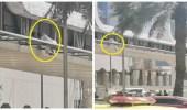 شاهد..إنقاذ شخص حاول الانتحار من مكان مرتفع على طريق الملك فهد بالرياض
