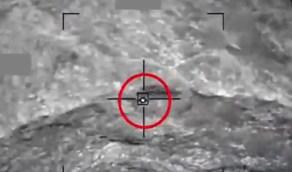 لقطات جديدة لإسقاط القوات الجوية لطائرات مسيرة مفخخة أطلقها الحوثيون