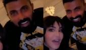 """بالفيديو.. أحلام تلتقي بمحمد سامي وزوجته مي عمر: """"عندنا مفاجآت"""""""