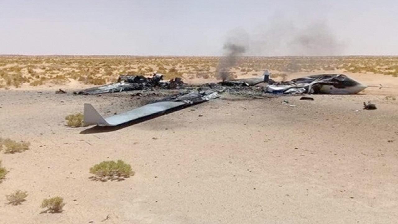اعتراض طائرة مسيرة مفخخة أطلقتها الميليشيات الحوثية باتجاه جازان