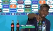 بالفيديو.. بوغبا يرفض وجود زجاجة خمر أمامه بالمؤتمر الصحفي