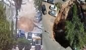 فيديو.. انهيار أرضي يبتلع السيارات أمام مستشفى إسرائيلي