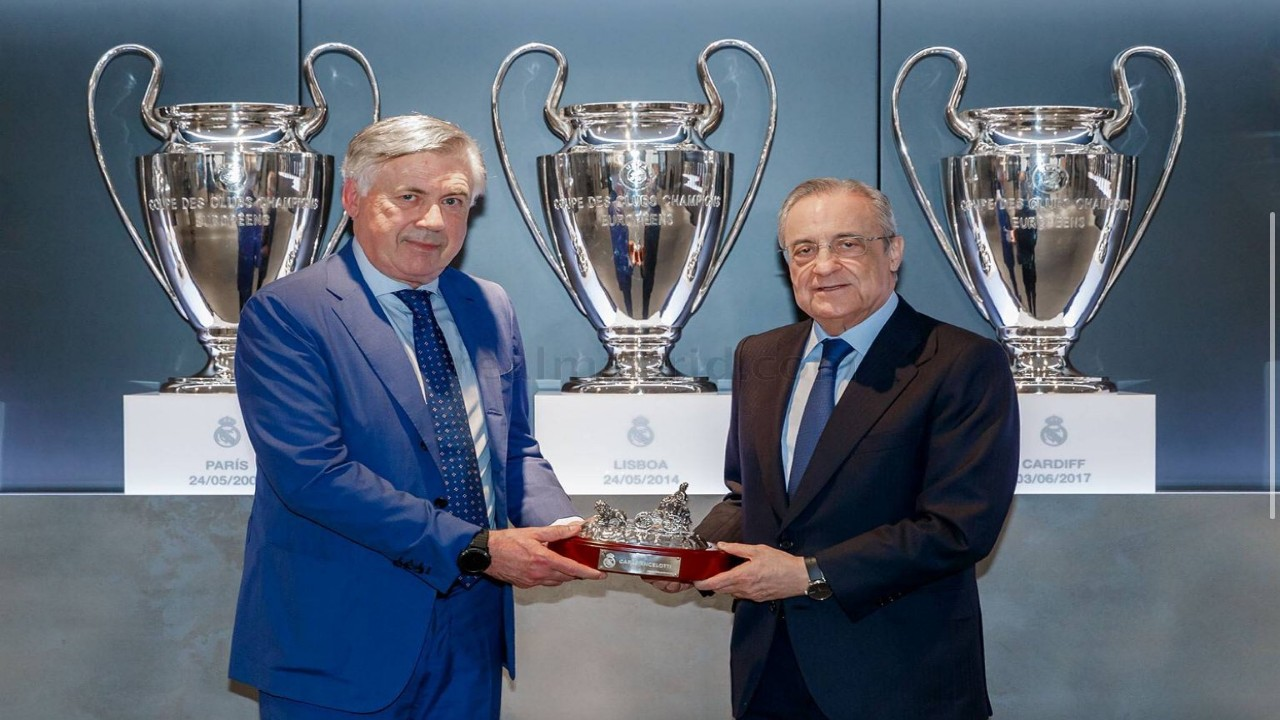 صدام بين أنشيلوتي ورئيس ريال مدريد بسبب فاران