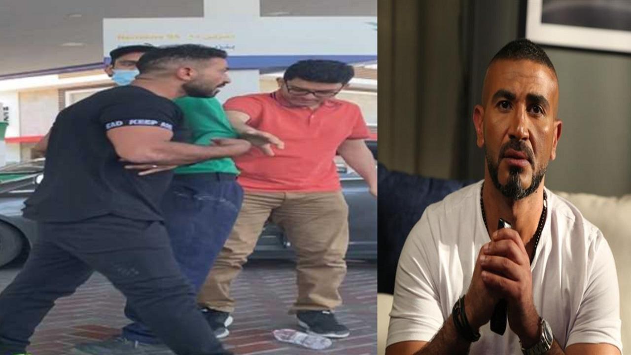 أحمد سعد يعتدي على شاب ويصفعه في محطة وقود