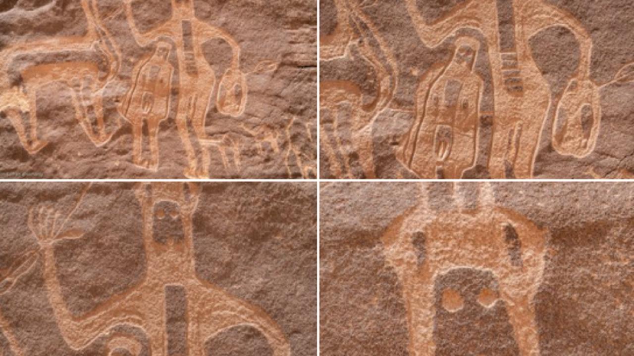 بالصور.. فنون صخرية تشكل لوحة بارعة في نجران