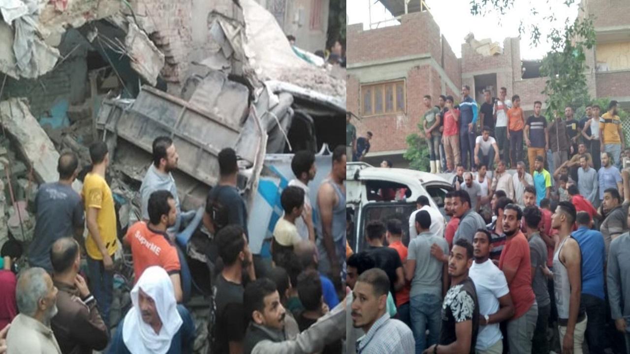 فيديو.. قتلى وجرحى في حادث تصادم قطار بسيارتين في مصر