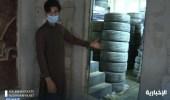 بالفيديو.. العمالة تسيطر على سوق الإطارات في شارع الغرابي بـ الرياض