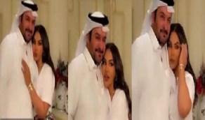 """بالفيديو.. """"أحلام"""" في جلسة تصوير رومانسية مع زوجها مبارك الهاجري"""