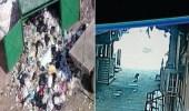 بالفيديو.. أم تلقي جثة رضيعها في القمامة