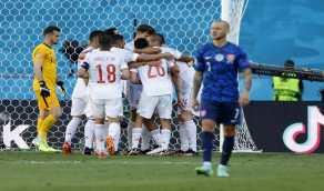 """إسبانيا تفوز على سلوفاكيا بخماسية وتتأهل إلى دور 16 بـ"""" يورو 2020 """""""