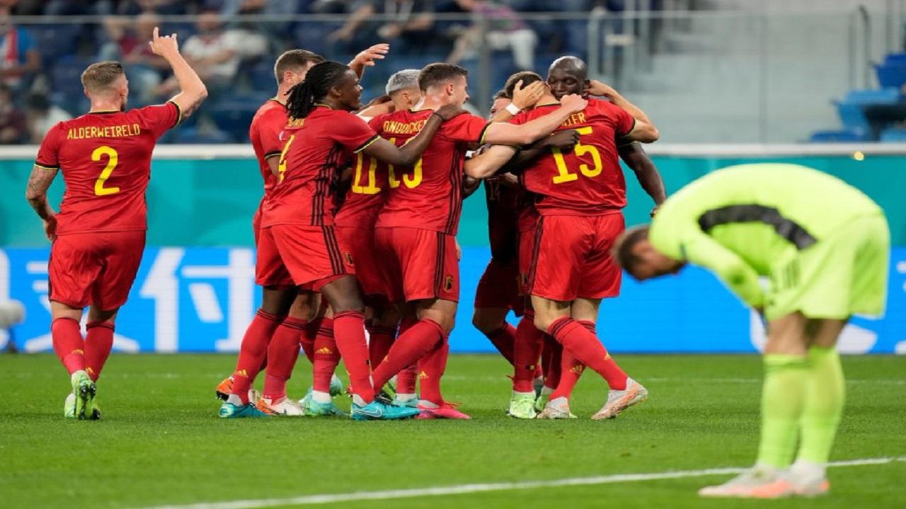 بلجيكا تسحق روسيا بثلاثية نظيفة في يورو 2020