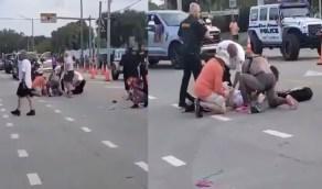 فيديو.. شاحنة تدهس عددا من المثليين في أمريكا