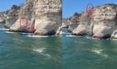 مقطع مروع للبناني قفز في المياة لحظة مرور قارب