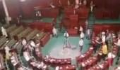 """نائب تونسي يعتدي بالضرب على عبير موسى ويصفعها على وجهها داخل البرلمان """" فيديو """""""