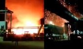 فيديو.. انفجار جديد في إيران يضرب معملًا للصلب