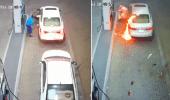 بالفيديو.. اندلاع حريق في محطة وقود بالقصيم