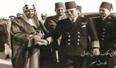 """الملك عبدالعزيز وفاروق الأول في قمة """"رضوى"""" بينبع (صور)"""