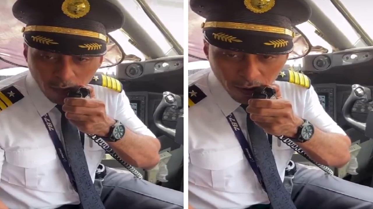 بالفيديو .. ترحيب خاص بضيوف المملكة على متن الطائرة المكسوة بشعار عام الخط العربي