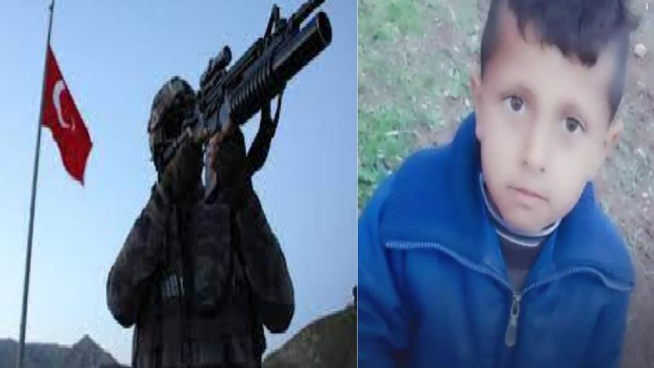 """بالفيديو ..""""قوات أتراك"""" تطلق الرصاص على طفل سوري كان يرعى الأغنام"""