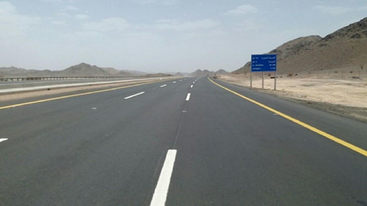 """تنبيهلمستخدمي طريق """"المدينة - مكة """" السريعبسبب الأمطار"""